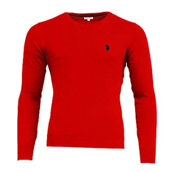 Anthracit, XL, US Polo V Neck Pullover, US Polo v-ringad tröja, ,