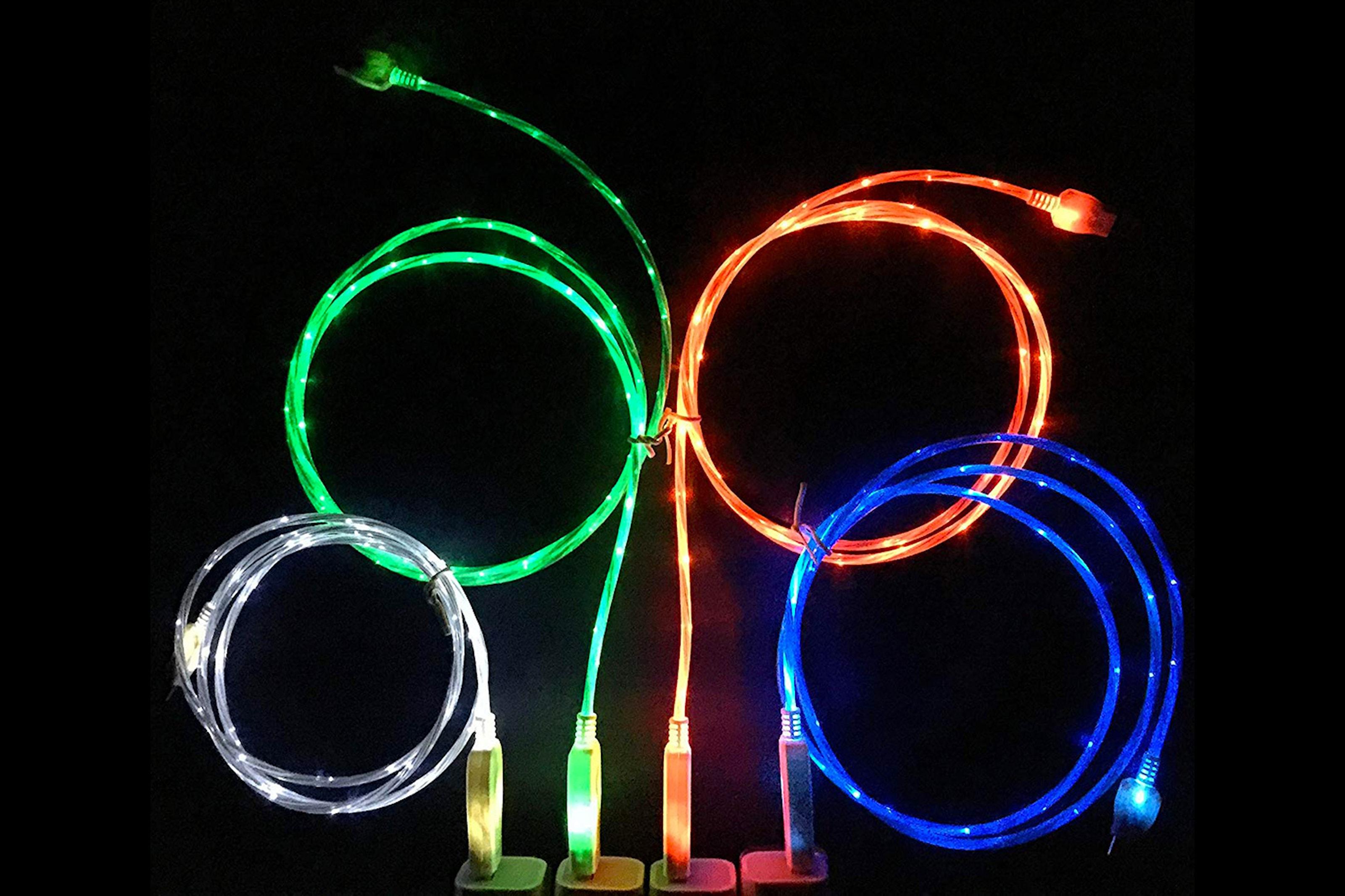 Hurtiglader med LED-lys