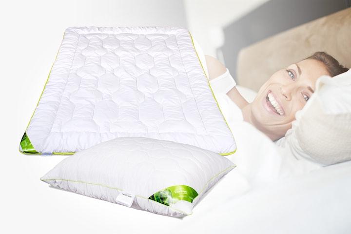 Sleep2care täcke eller kudde i bambu