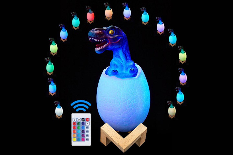 Dinosaurieägg med LED