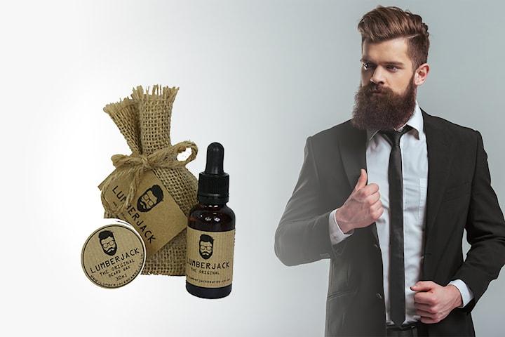 Set med skäggolja och skäggvax