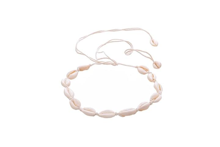 Choker Halsband med vita Snäckor - Vit