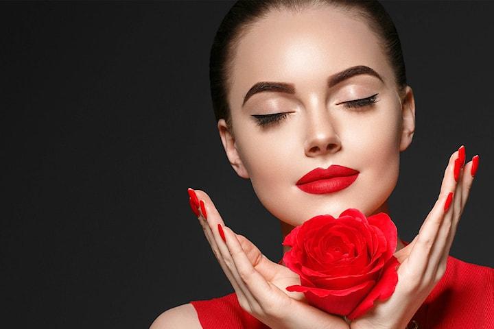 Valentines skjønnhetspakke inkludert 1 ml filler, mesoterapi og manikyr/pedikyr