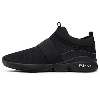 Svart, 45, Casual breathable sneakers, Sneakers i andningsbart material, ,