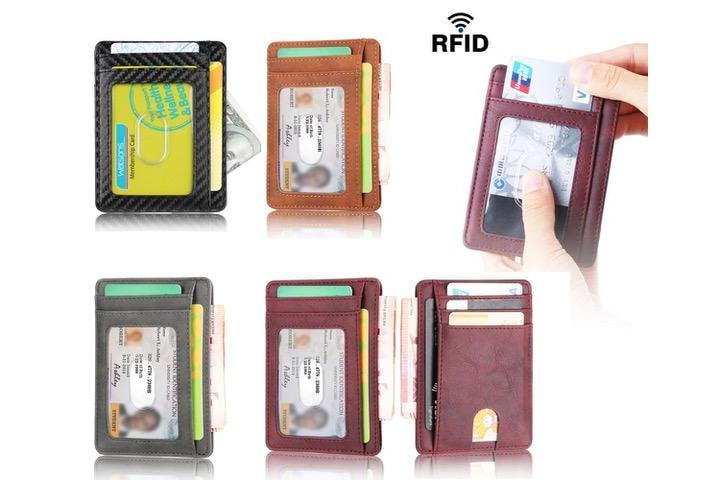 Supertunn RFID Plånbok - 7 kortplatser + sedelficka