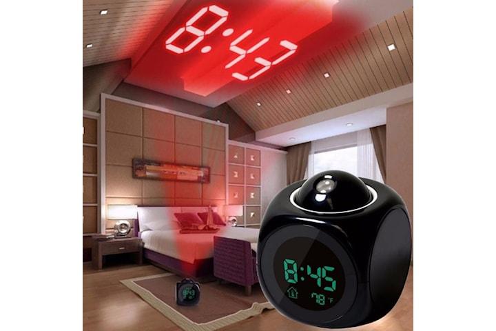 Digital projektion väckarklocka