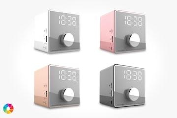 Väckarklocka med Bluetooth-högtalare