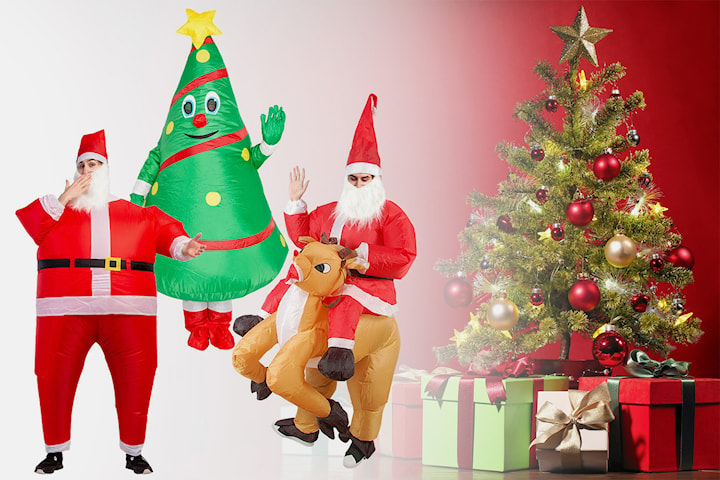 Oppblåsbar julekostyme