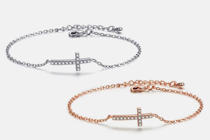 Cross armband med Swarovski-kristaller