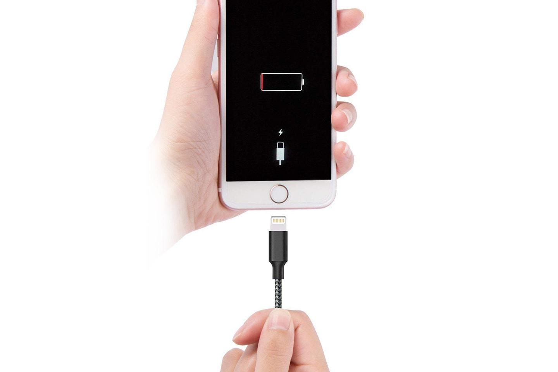 Extra lång laddningssladd till iPhone