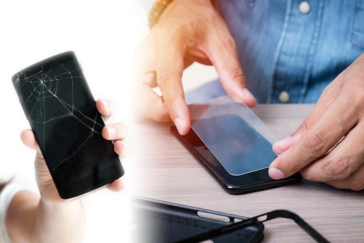 2-pack skärmskydd till mobilen